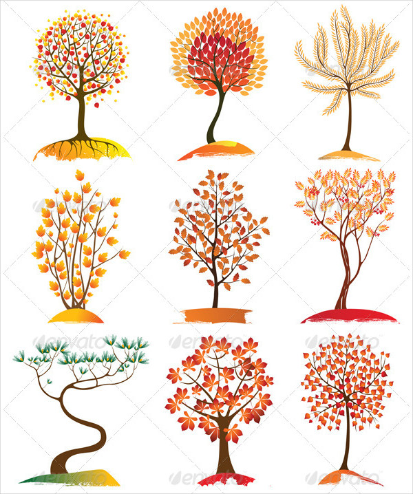 9 Highly Detailed Trees Icons