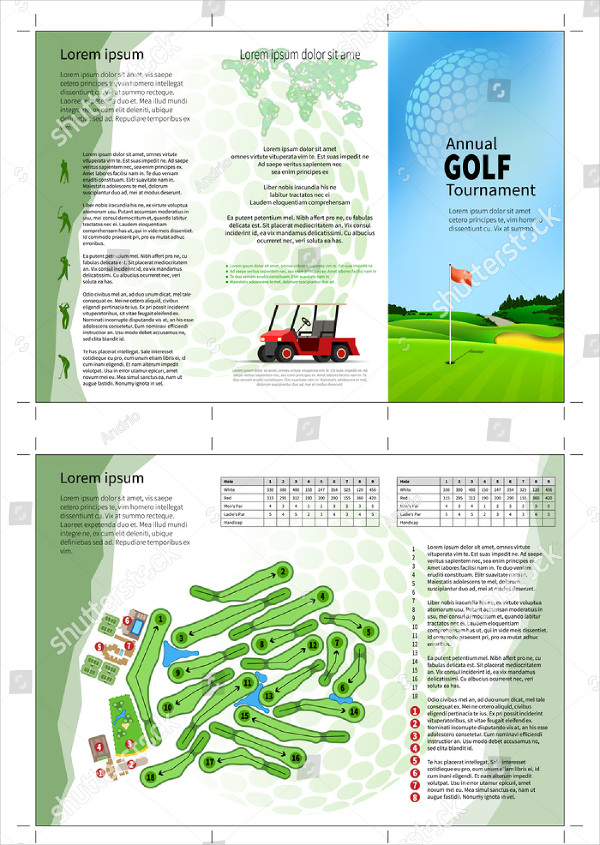 Abstract Golf Brochure Design