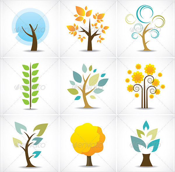 Abstract Tree Icon Collection
