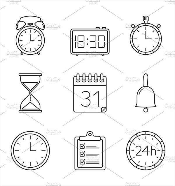 Best Clock And Time Icons