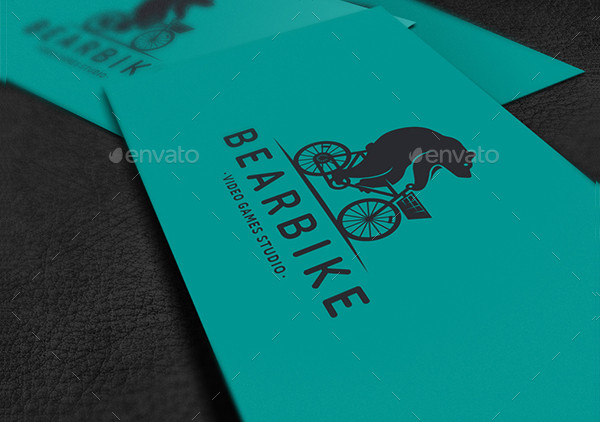 Bear Bike Logo Template