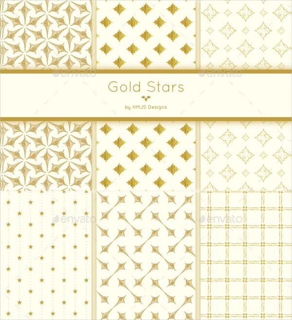 Beautiful Set of Gold Stars Patterns