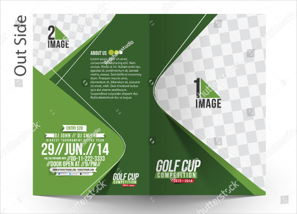 Bi-Fold Golf Tournament Mockup & Brochure Design