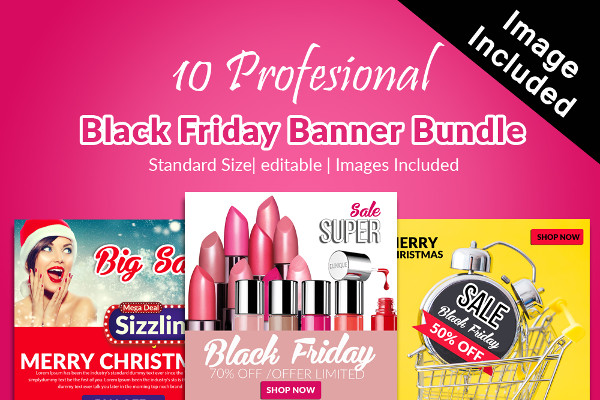 Big Black Friday Banners Templates Bundle