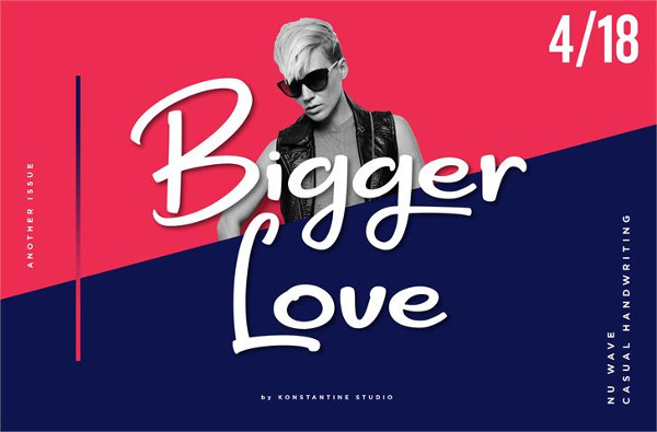 Bigger Love Font Free Download