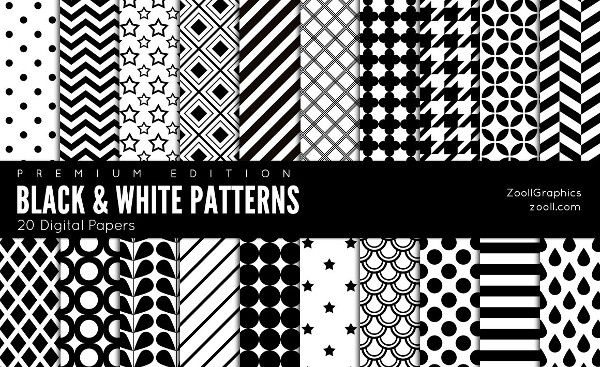 Black And White Patterns Digital Papers