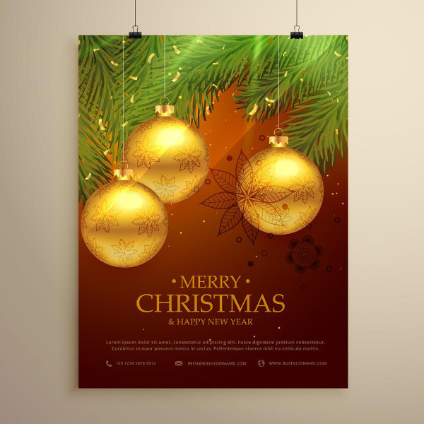 Christmas Luxury Flyer Design Free