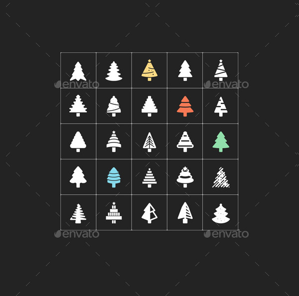 Christmas Tree Filled Icon