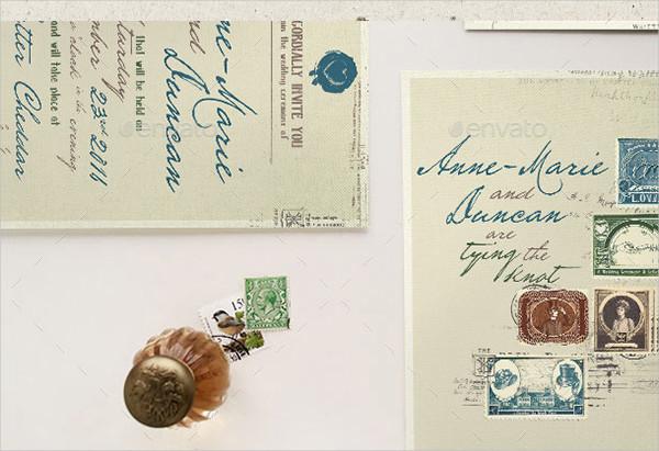Classic Stamp Wedding Invitation