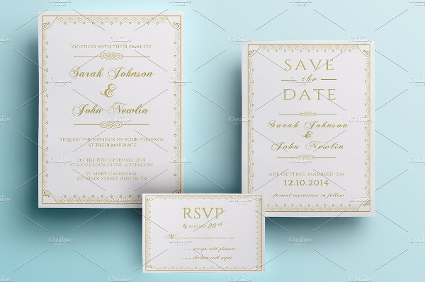 Classic Wedding Invitations Pack