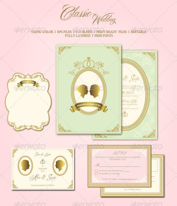 Classic Wedding Save The Date Invitation