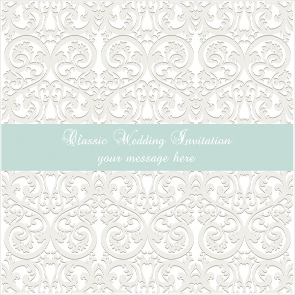 Classic Wedding Invitation Template Free Download