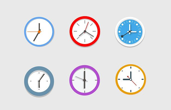 Colorful Clock Icon Pack