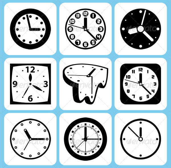 Popular Clock Icon Set