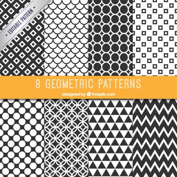 Collection of Black and White Patterns Free