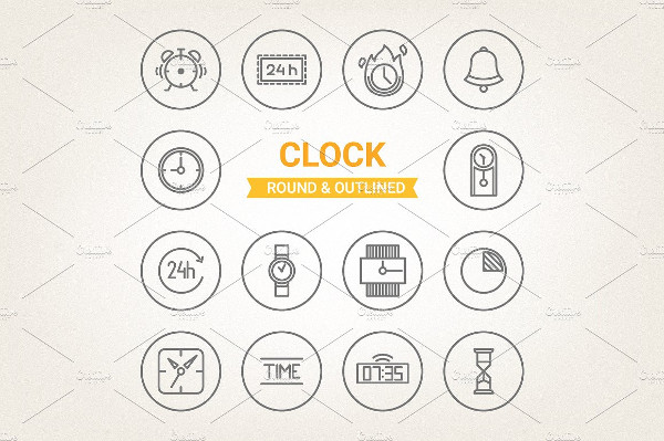 Collection of Circle Clock Icons
