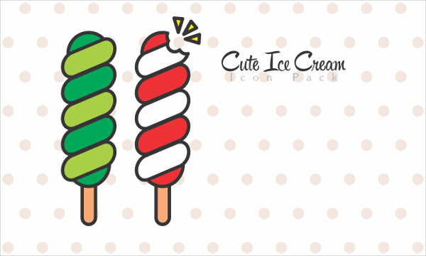 Cute Ice Cream Icon Pack