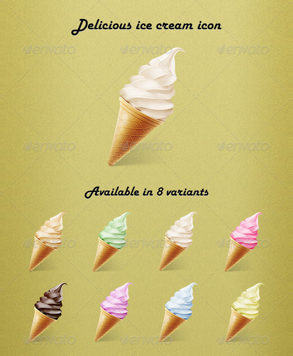Delicious Ice Cream Icon