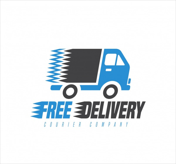 Delivery Logo Template with Truck Free