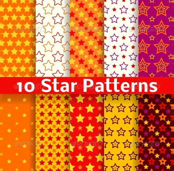 Different Star Seamless Patterns