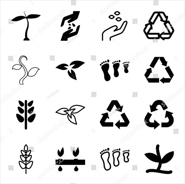 Editable Filled and Outline Environmental Icons