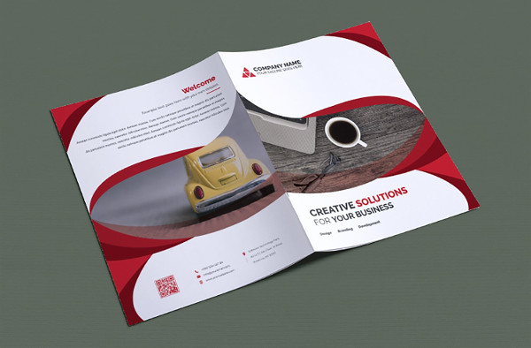 Editable Information Bi-Fold Brochure
