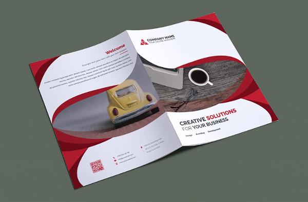 Editable Information Bi-Fold Brochure