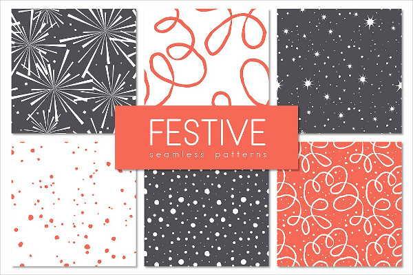 Festive Seamless Patterns Set