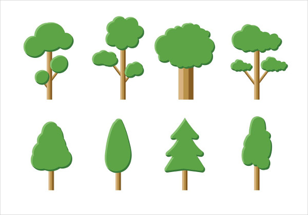 Free Download Tree Icon Vector Pack