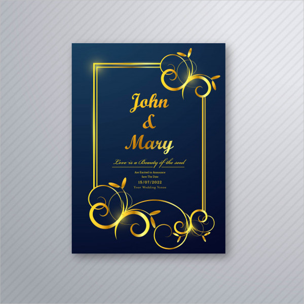 Free Luxury Wedding Card Flyer Template Design
