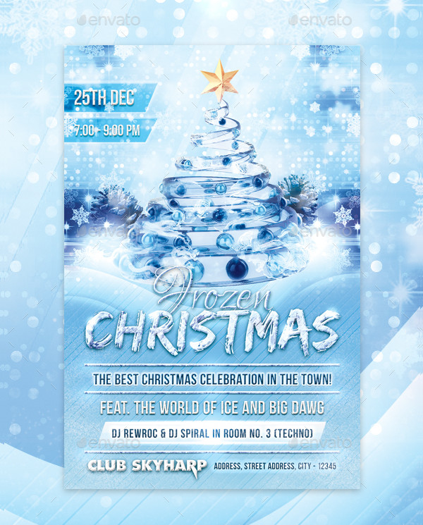 Frozen Christmas Flyer Design
