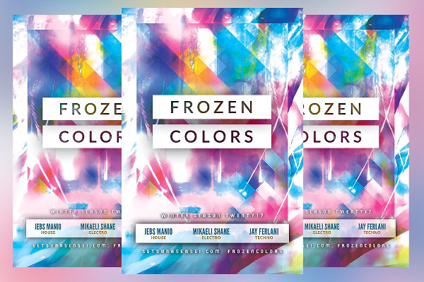 Frozen Colors Flyer