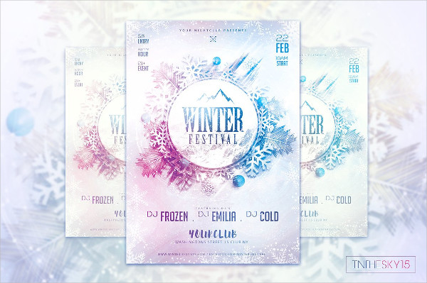 Frozen Festival Flyer Template