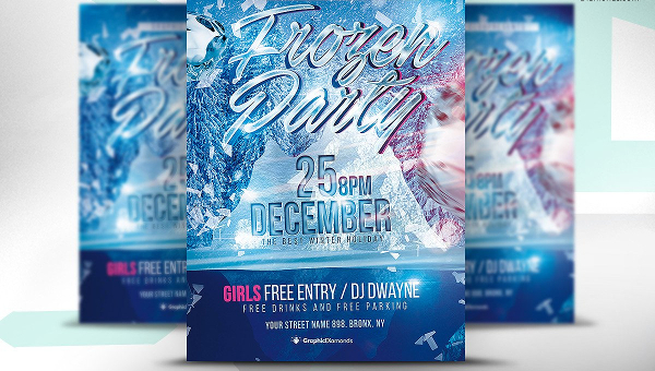 Frozen Flyer Templates