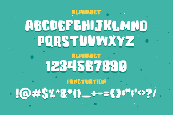 Funny Layered Typeface Font