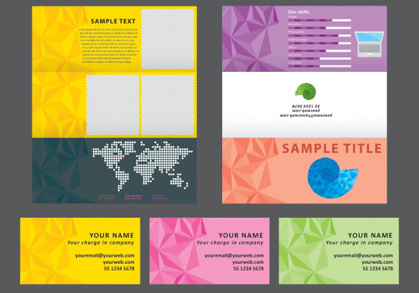 Geometric Horizontal Brochure Free Download