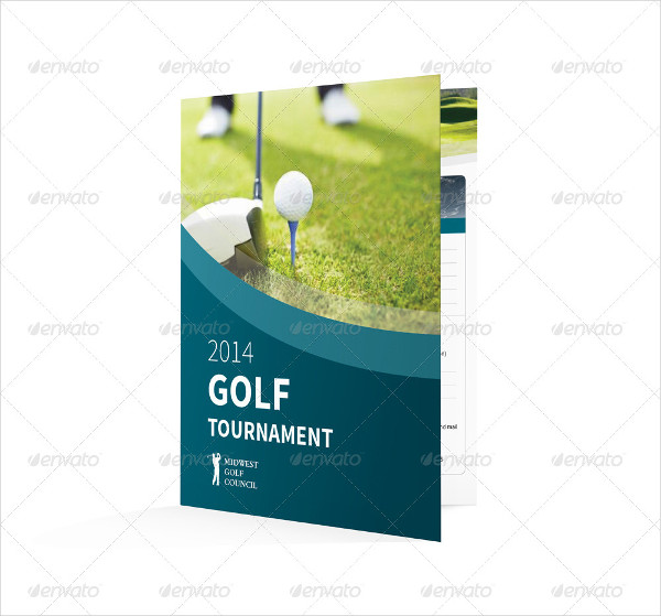 Golf Tournament Bifold or Halffold Brochure