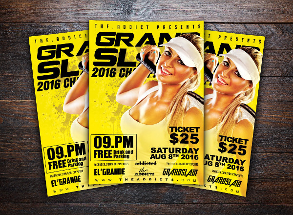 Grand Slam Tennis Championships Flyer