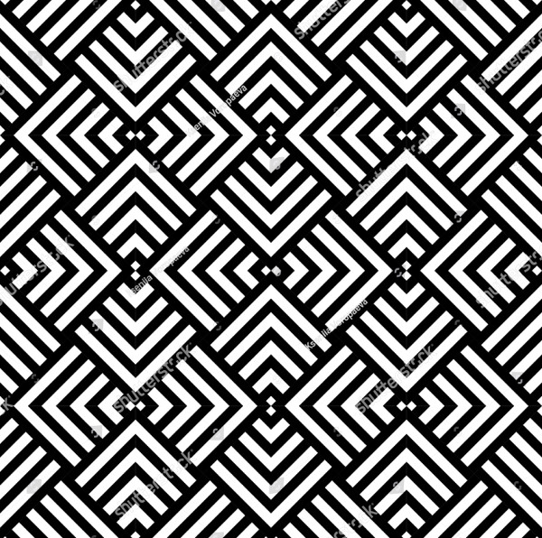 Graphic Geometric Pattern in Black & White