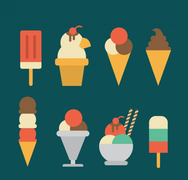 Ice Cream Icon Set Free Download