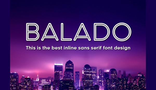 Inline Balado Typeface Font
