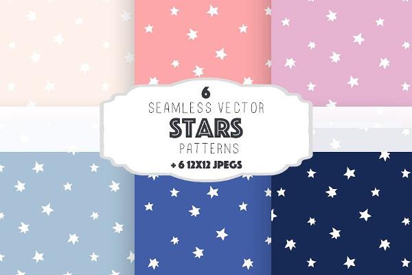 Kids Stars Patterns Set