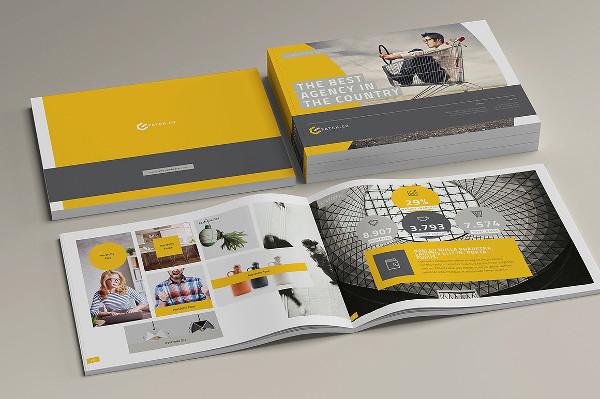 Landscape Informational Magazine or Brochure Mockup