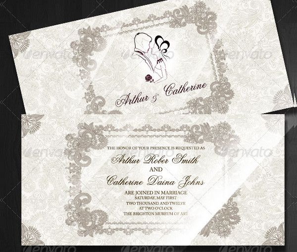 Modern And Classic Wedding Invitation