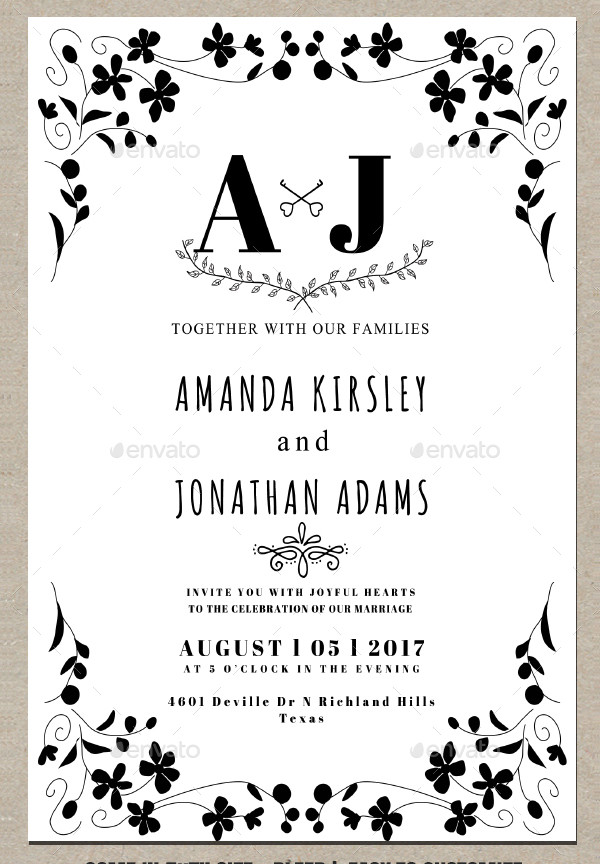 Modern Classic Wedding Invitations Design