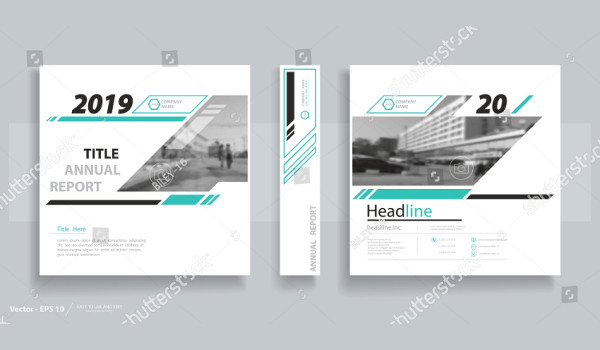Modern Information Brochure Vector
