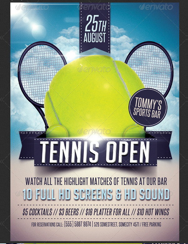 Modern Open Tennis Flyer Design