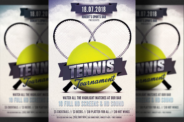 Modern Tennis PSD Flyer Template