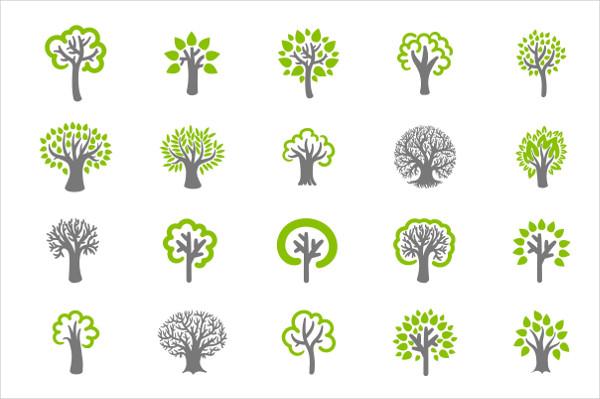 Modern Tree Icon Set