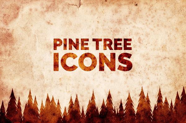 Mountain Pine Tree Icons